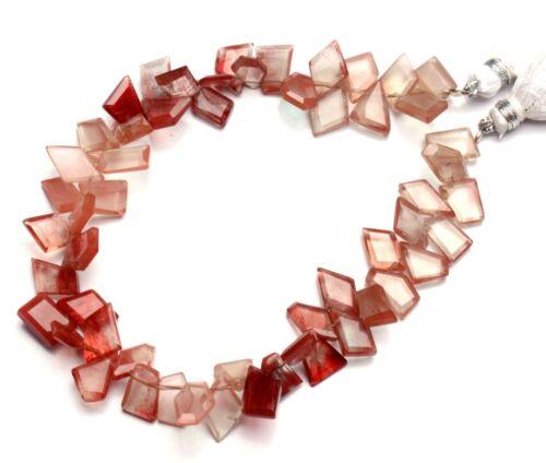 """Natural Gem Andesine Labradorite Faceted Slice Shape Beads 8.5"""" Strand 75Cts."""