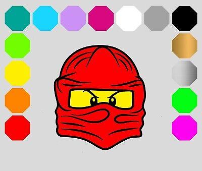 Bügelbild dunkle Stoffe Ninja Kopf Ninjago Flexfolie Transferfolie - Ninja Superheld