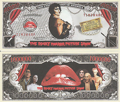 Rocky Horror Picture Show Million Dollar Funny Money Novelty Note + FREE SLEEVE Free Funny Photo