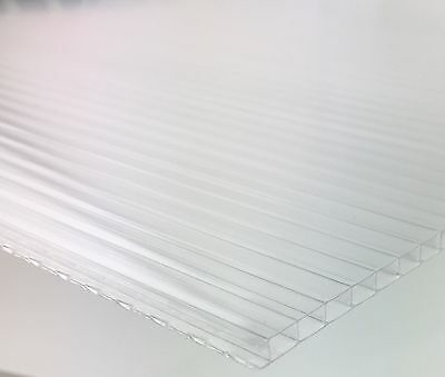 Greenhouse Polycarbonate 11 Sheets 4mm x 610 x 1220 Cold Frame Cloche Glazing