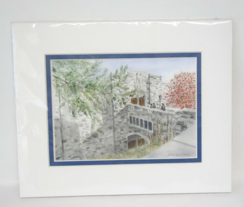 Watercolor Print West Point Military Academy Thayer Hall USMA Dorian Remine