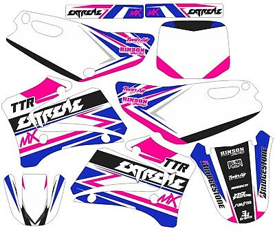 2000-2007 Yamaha TTR125 TTR 125 Graphics Decal dirt bike Shrouds Plates pink  for sale  Chicora