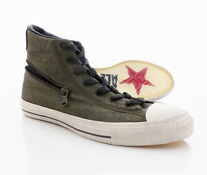 CONVERSE-John-Varvatos-Green-Canvas-Shoes-Size-9-5-US-9-UK-NEW-Zip-HI-Khaki