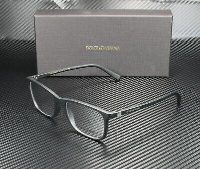DOLCE & GABBANA DG5027 2525 Matte Black Demo Lens 55 mm Men's (Dolce And Gabbana Eyeglasses For Men)