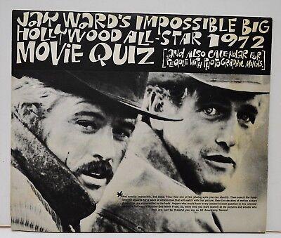 Vintage Jay Ward's Impossible Big Hollywood All-Star 1972 Movie Quiz Calendar