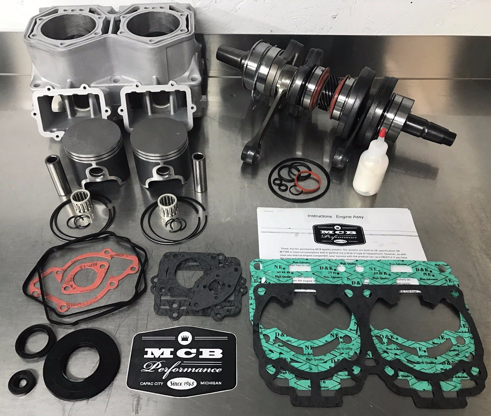 2010 Ski-Doo MXZ 800R Engine Rebuild Kit - MCB STAGE 3 -Renegade Adrenaline