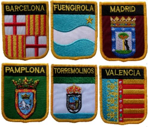 Spain Town & City Shield Embroidered Patches - 27 To Choose From