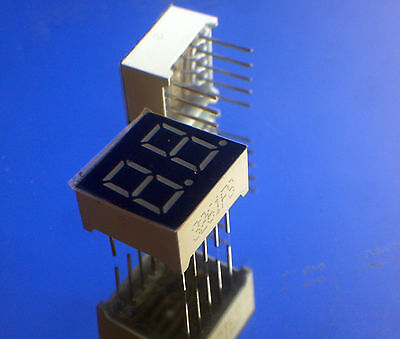 0.36 2 Digits Red Led Display 7 Segment Common Anode Ca - 3 Pieces