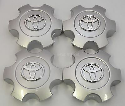 4x Toyota Tundra Sequoia 2003 2004 2005 2006 2007 Silver TOYOTA Center Caps Cap