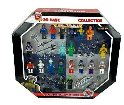 Block Tech Action Set 20 Figures 2 Inches Each, Best Gift for Kids Holidays