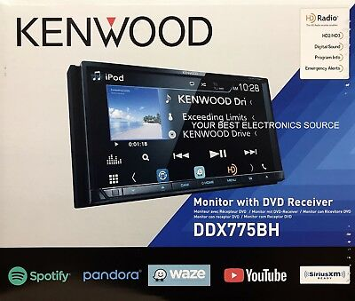 NEW Kenwood DDX775BH DVD/CD/AM/FM Car Stereo w/ Weblink, Pandora, Bluetooth