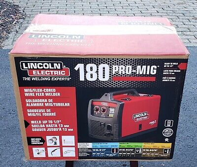 Lincoln Electric K2481-1 180 Pro-mig Flux-cored Wire Feed Welder 230v 180 Amp