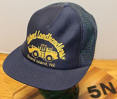 VINTAGE ISLAND LANDHANDLERS GRAND ISLAND NEB. HAT HEAVY EQUIPMENT CONTRUCTION ](Contruction Hat)
