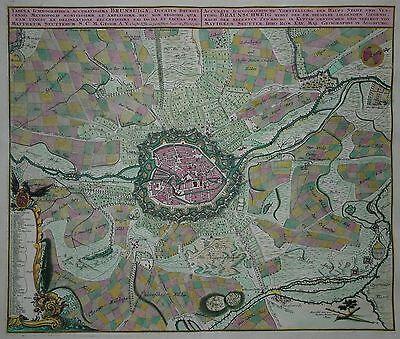 Braunschweig - Tabula Ichnographica... - Matthäus Seutter - Original um 1730