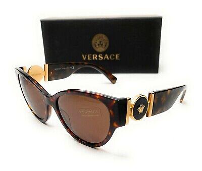 Versace VE4368A 10873 Havana Women's Cat Eye Sunglasses 56-17