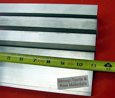 4 Pieces 12x 2 Aluminum Flat Bar 11 Long 6061 .50 Solid Plate Mill Stock