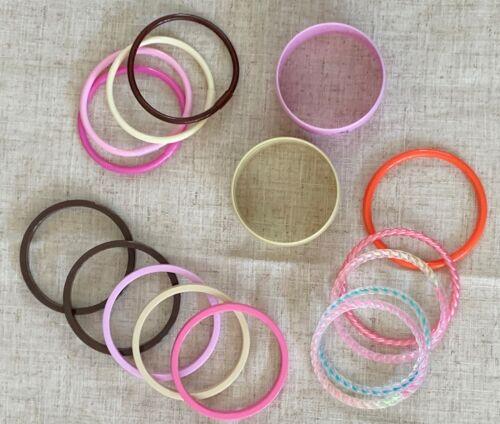 Lot of 16 Girls Plastic BRACELETS Jewelry for Princess Dress up Pretend Play