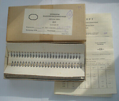 200 Pcs D2e 2 D9j Rare Ussr Germanium Detector Diode 100v 16ma