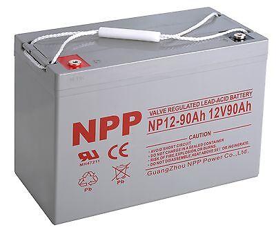 NPP  NPP12-90Ah 12V 90Ah Power Boat Pontoon Rechargeable Deep Cycle Battery