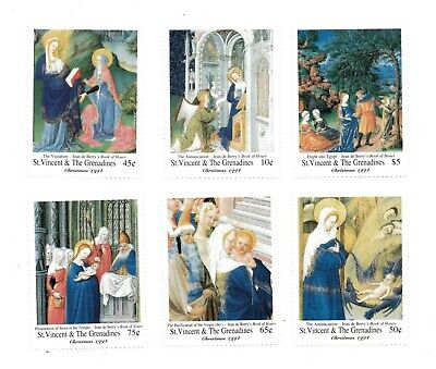 St. Vincent 1994 SC# 2137-42 Religious Paintings Christmas - Set of 6 Stamps MNH