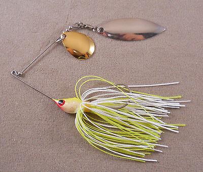 1 Colorado /& 1 Willowleaf Blade Bass Fishing Lure DR Custom Spinnerbait 1//4 oz