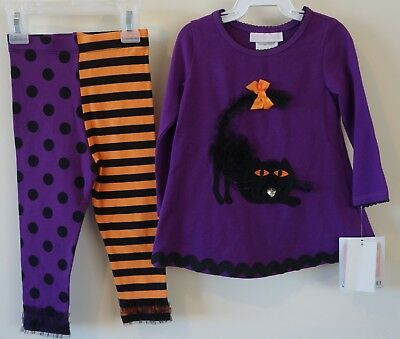 New Bonnie Baby Black Cat Halloween Outfit ~ Girl's size 18 Month - Black Cat Halloween Outfit