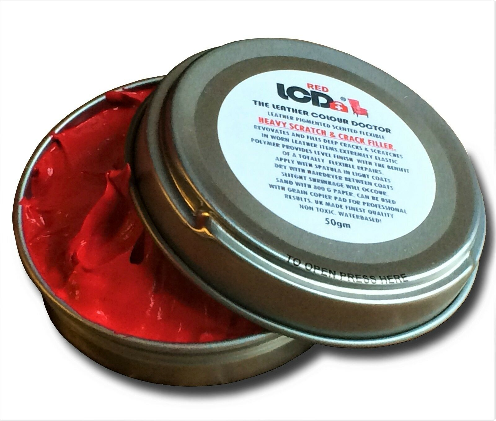 Leather Repair Filler Paste Fills Cracks Scrapes & Holes Heavy Repair Compound