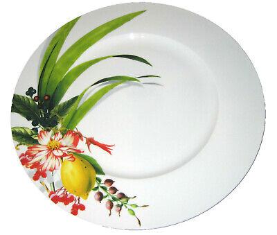 Service Rim Plate (Rosenthal Platzteller 33cm Brillance Les Fruits du Jardin Service rim plate NEW)