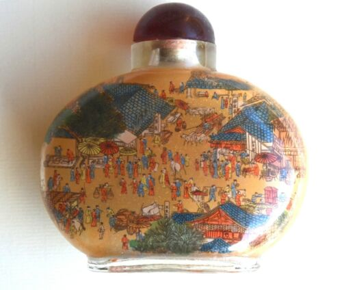 Antique Reverse (Inside) Painted Chinese Snuff Bottle, circa 1800