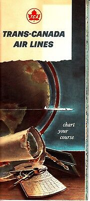 Trans Canada Airlines Chart Your Course 1956 Air Canada Vintage Booklet