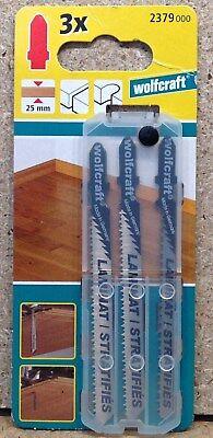 Wolfcraft 3 Stichsägeblätter HCS T- Schaft Feinschnitt Holz Kunststoff  2379000 gebraucht kaufen  Bischheim