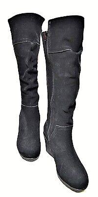 TS boots TAKING SHAPE sz 37 / 6 'Madrid' Knee-High suede wide calf NIB rp$290