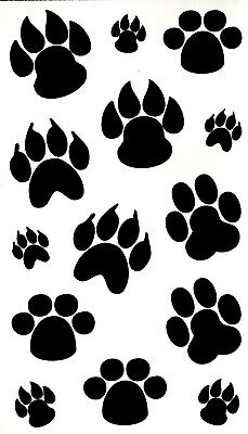 2 Dog & Bear Paw Good Luck Temporary Fake Tattoos Waterproof Body Art Transfers