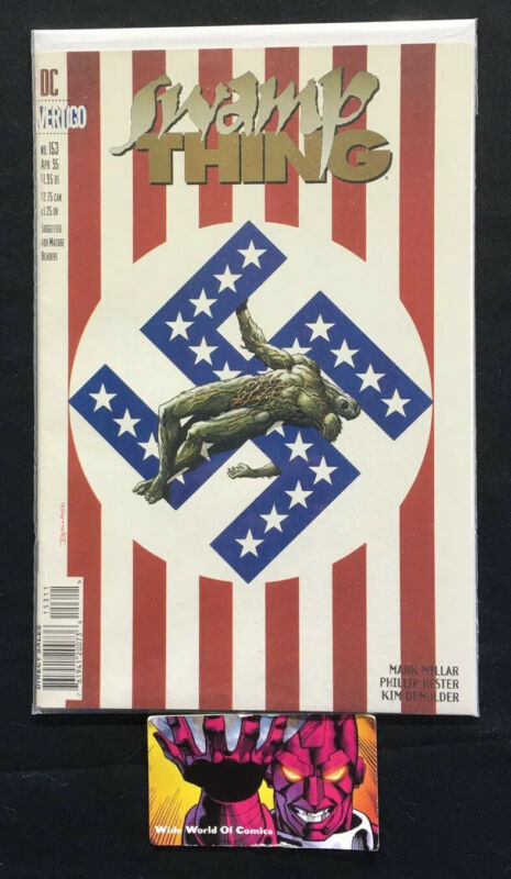 Swamp Thing (1982 2nd Series) #153 Controversial Swastika American Flag Cover