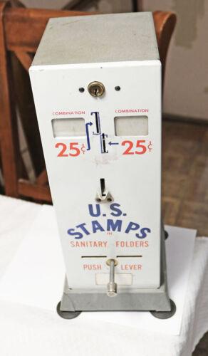 Vintage U S Post Office Counter Top Postage Stamp Vending Machine WORKING