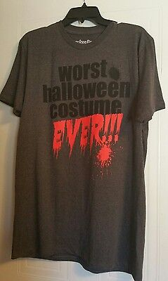 Worst Halloween Costume Ever T Shirt Halloween Funny Humor Trick or Treat size L