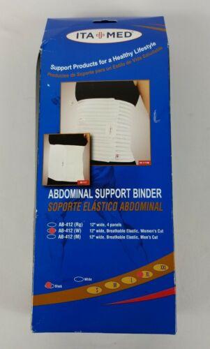 ITA-MED Woman's Breathable Elastic Abdominal Binder AB-412 X