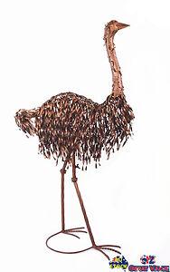 Vintage Metal Standing EMU Bird Ornament Home Garden Decor
