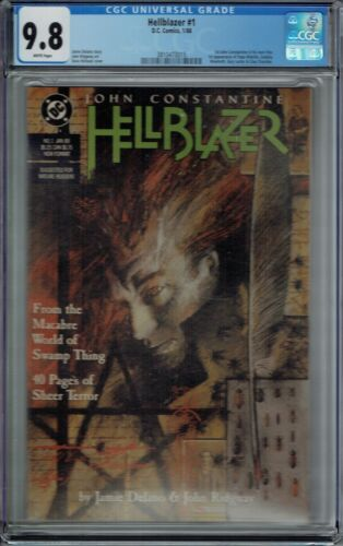 CGC 9.8 HELLBLAZER #1 1ST SERIES 5-1ST APPEARANCES WHITE PAGES 1988