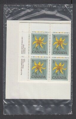 CANADA SEALED PLATE BLOCKS 783 PL 2 BABN FLORAL DEFINITIVES - CANADA LILY