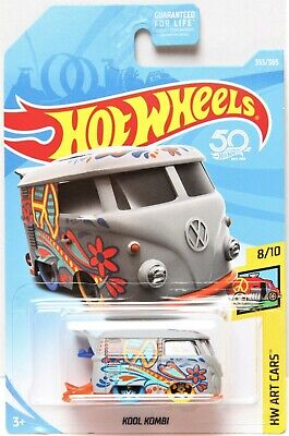 2018 Hot Wheels - HW Art Cars - Kool Kombi VW Bus - Lt. Gray - #8/10 - #353/365