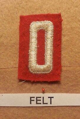 Felt Number - BSA RED FELT TROOP UNIT NUMBER 0 -(VERY GOOD CONDITION) GAUZE BACK 1927~52 FB015