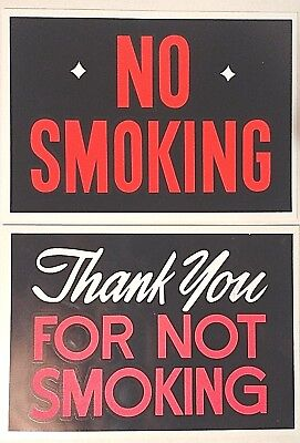 Vintage Plastic No Smoking Signs Hardware Store Business Sign 7 X 10 Nos