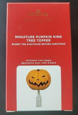 2020 Hallmark Nightmare Before Christmas Miniature Pumpkin King Tree Topper NIB