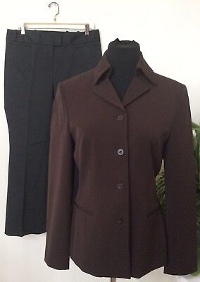 NWT The Limited Women's Brown Black Polyester Blend 2 Piece Pant Suit Size M.