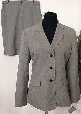 NWT Focus 2000 Women's Career Gray Polyester Blend 2 Piece Skirt Suit Size10