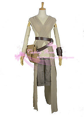 Rey Cosplay Costume from Movie Star Wars The Force Awakens  - Costume From Movies