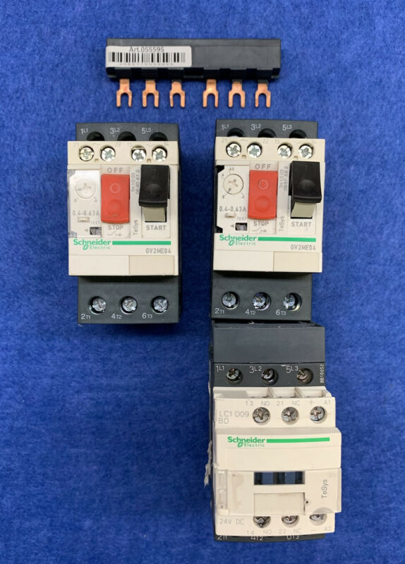 Schneider Electric Motor Contactor Units (See Description) Used Free Shipping