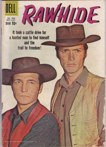 RAWHIDE # 1 / FOUR COLOR #1028 (DELL)  CLINT EASTWOOD PHOTO COVER