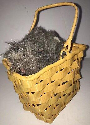 Toto in Basket, Deluxe Wizard of Oz, Dorothy Prop, Costume, Halloween, Grey Dog
